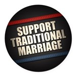 Support Traditional Marriage Round Car Magnet