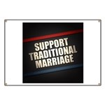 Support Traditional Marriage Banner