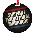 Support Traditional Marriage Ornament
