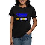 'Race 2 Win' in this Women's Dark T-Shirt