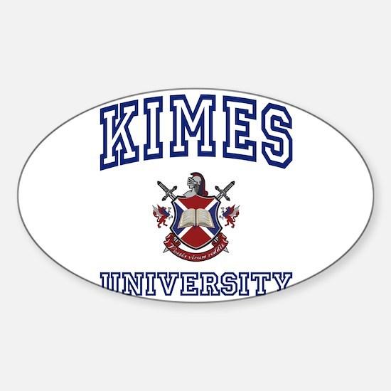 KIMES University Oval Decal