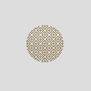 Floral Nouveau Deco Pattern Mini Button