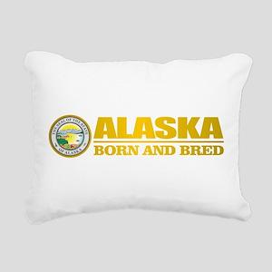 Alaska Born and Bred Rectangular Canvas Pillow