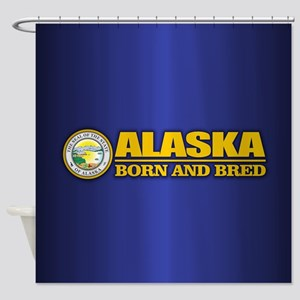 Alaska Born and Bred Shower Curtain