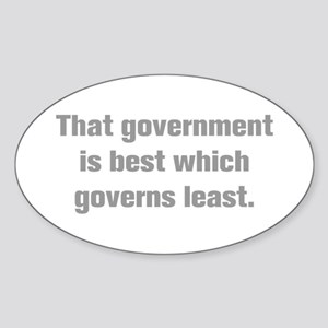 That government is best which governs least Sticke