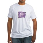 Purple Skull Heart Fitted T-Shirt