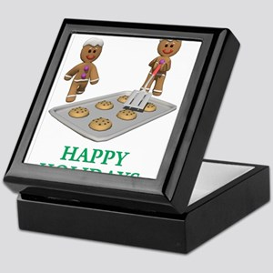 HAPPY HOLIDAYS - GINGERBREAD MEN Keepsake Box