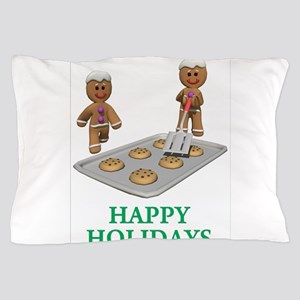 HAPPY HOLIDAYS - GINGERBREAD MEN Pillow Case