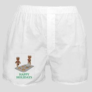 HAPPY HOLIDAYS - GINGERBREAD MEN Boxer Shorts