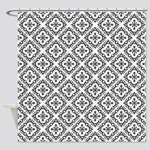 Floral Nouveau Deco Pattern Shower Curtain
