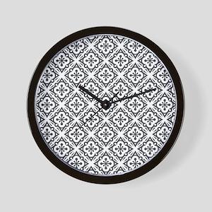 Floral Nouveau Deco Pattern Wall Clock