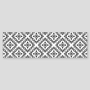 Floral Nouveau Deco Pattern Bumper Sticker
