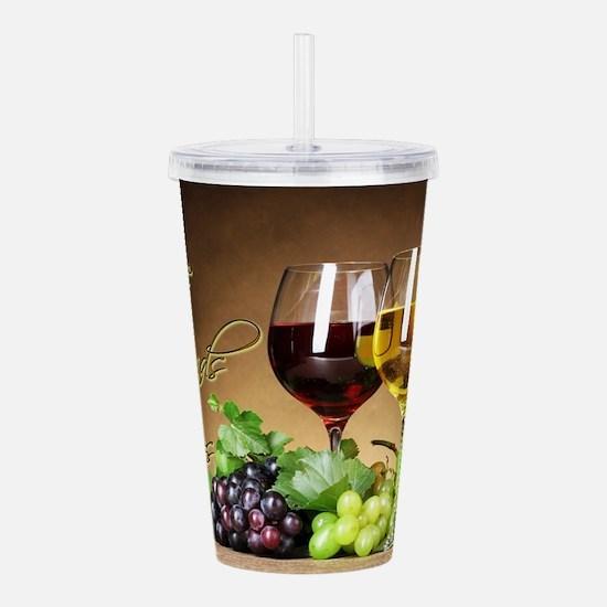 Good Wine Friends & Times Acrylic Double-wall Tumb