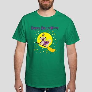Halloween Witchy Pug Dark T-Shirt