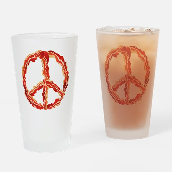 Peace of Bacon Drinking Glass