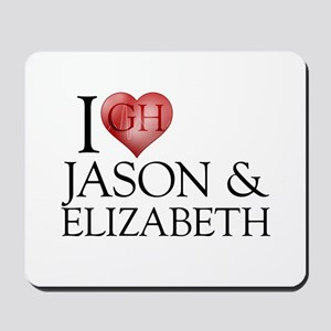 I Heart Jason & Elizabeth Mousepad