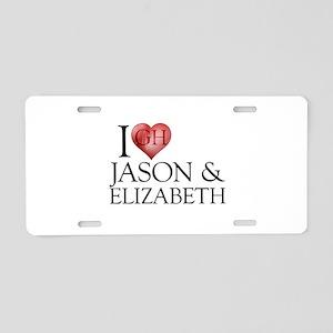 I Heart Jason & Elizabeth Aluminum License Plate