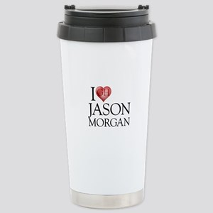 I Heart Jason Morgan Stainless Steel Travel Mug