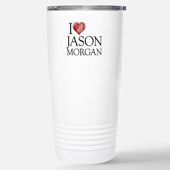 I Heart Jason Morgan Stainless Steel Travel Mug