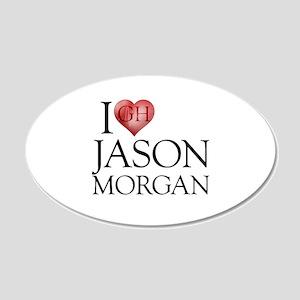 I Heart Jason Morgan 22x14 Oval Wall Peel