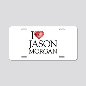 I Heart Jason Morgan Aluminum License Plate