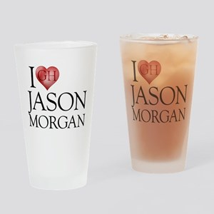 I Heart Jason Morgan Drinking Glass
