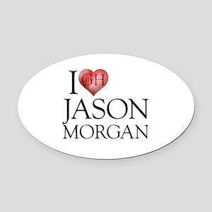 I Heart Jason Morgan Oval Car Magnet