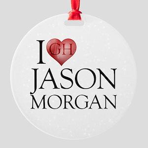 I Heart Jason Morgan Round Ornament