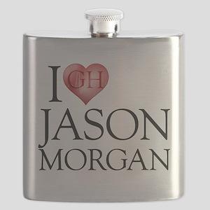 I Heart Jason Morgan Flask