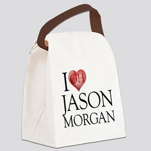 I Heart Jason Morgan Canvas Lunch Bag