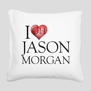 I Heart Jason Morgan Square Canvas Pillow