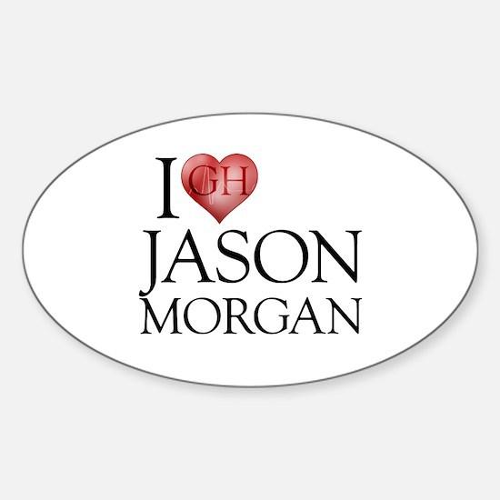 I Heart Jason Morgan Oval Decal