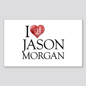 I Heart Jason Morgan Rectangle Sticker