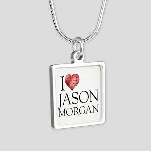 I Heart Jason Morgan Silver Square Necklace