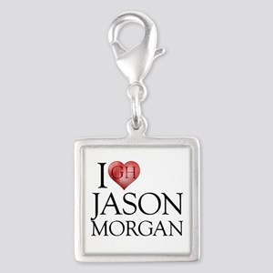 I Heart Jason Morgan Silver Square Charm