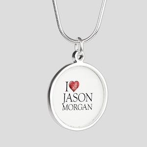 I Heart Jason Morgan Silver Round Necklace