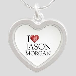 I Heart Jason Morgan Silver Heart Necklace