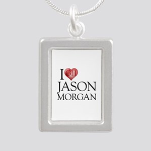 I Heart Jason Morgan Silver Portrait Necklace