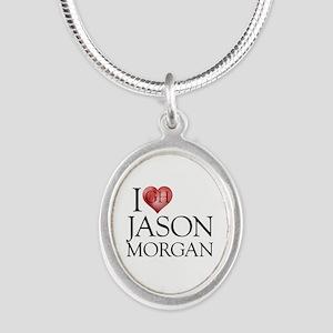 I Heart Jason Morgan Silver Oval Necklace