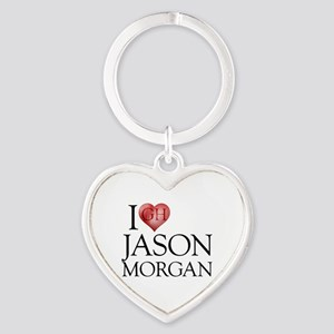 I Heart Jason Morgan Heart Keychain