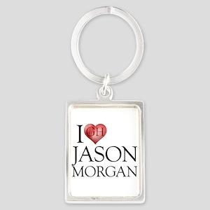 I Heart Jason Morgan Portrait Keychain