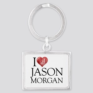 I Heart Jason Morgan Landscape Keychain