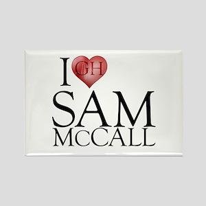 I Heart Sam McCall Rectangle Magnet