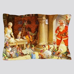 Mrs. Claus & the Elves Bake Christmas Pillow Case