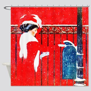 Merry Christmas Darling Shower Curtain