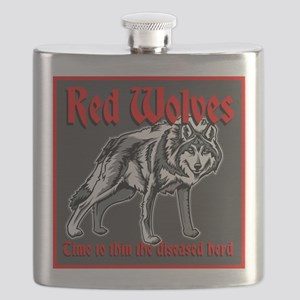 Red Wolves Flask