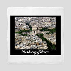 The Beauty of France Queen Duvet