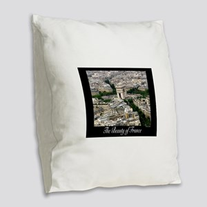 The Beauty of France Burlap Throw Pillow