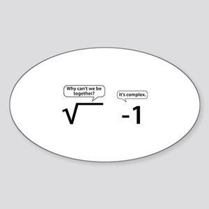 It's Complex Sticker (Oval)