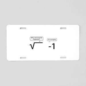 It's Complex Aluminum License Plate